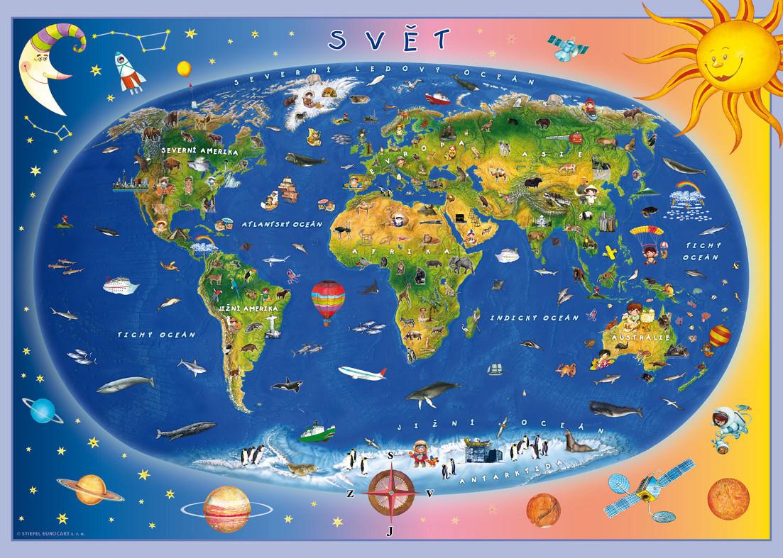 Detska Mapa Sveta Puzzle Ucebnicemapy Cz