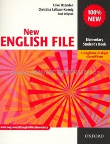 New English File Elem. SB+A-Č slov. - Náhled učebnice