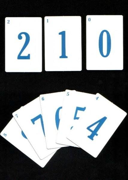 Karty s číslicemi a matematickými znaky