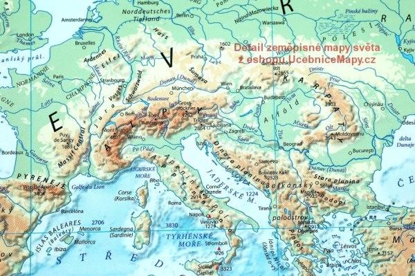Svet Nastenna Fyzicka Mapa 1 360 960 Mm Ucebnicemapy Cz