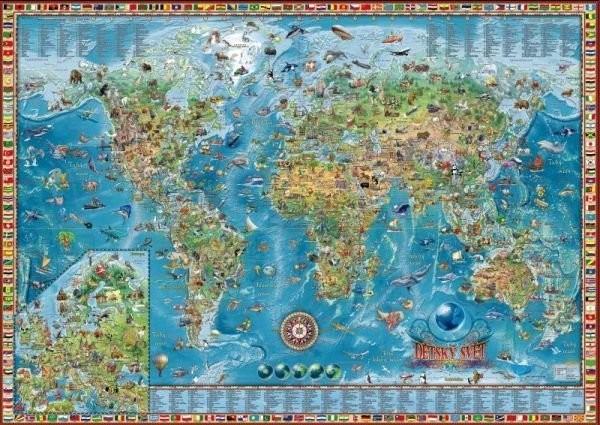 Detska Mapa Sveta Nastenna 138 X 98 Cm Ucebnicemapy Cz