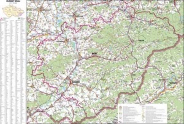 Zlinsky Kraj Nastenna Mapa 113 X 83 Cm Ucebnicemapy Cz