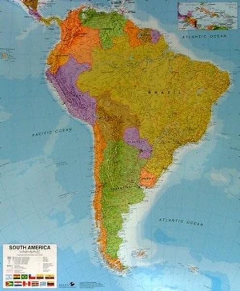 Jizni Amerika Nastenna Mapa 120 X 100 Cm Ucebnicemapy Cz