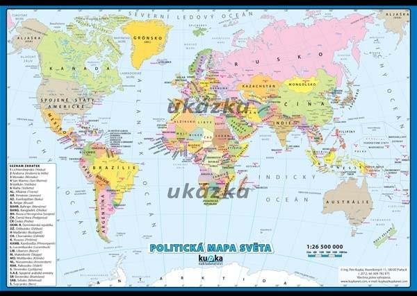 Politicka Mapa Sveta Xxl Nastenna Mapa Ucebnicemapy Cz