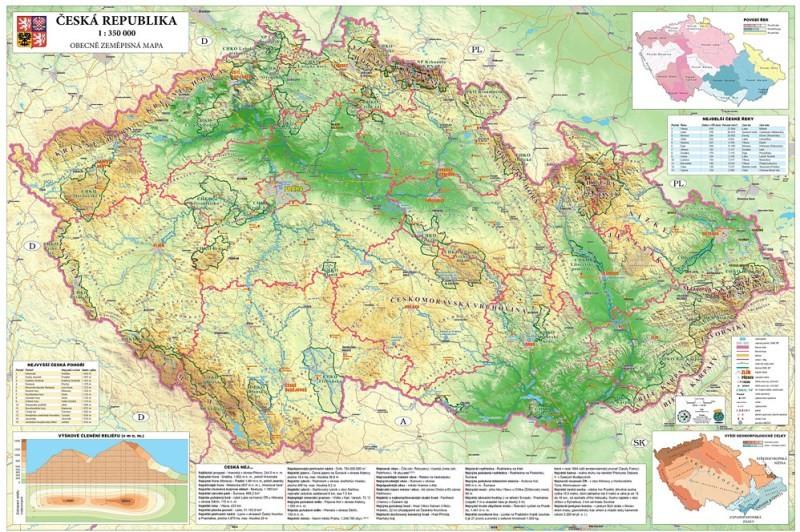 Ceska Republika Obecne Zemepisna Mapa Ucebnicemapy Cz