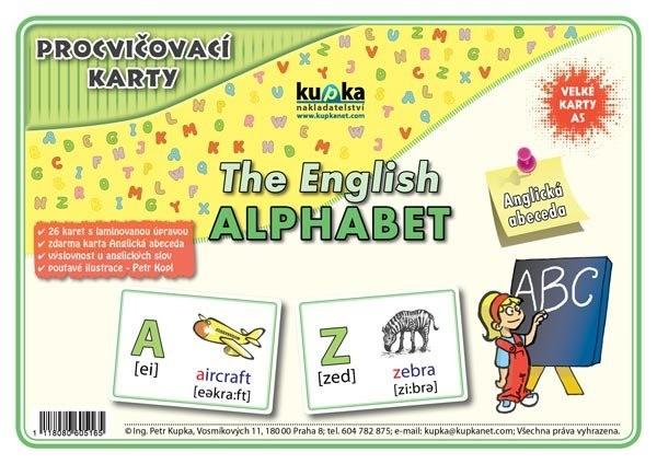 Procvičovací karty - Anglická abeceda (velké karty A5)