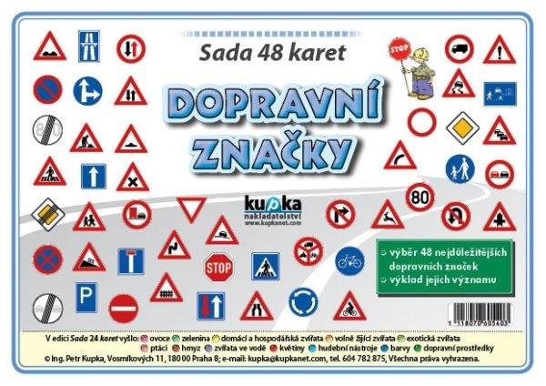 Dopravní značky - sada 48 velkých karet (A5)
