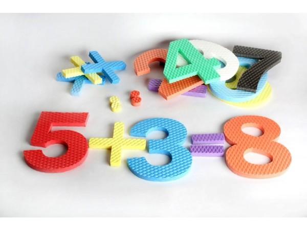 Pěnové číslice se znaménky