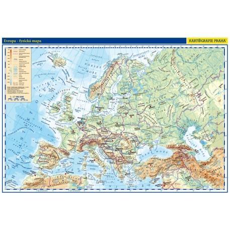 Evropa - příruční mapa (lamino, A3)