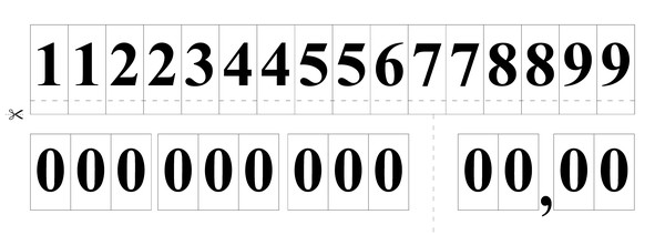 Hra pro tvoření a čtení čísel 4. - 5.r. ZŠ