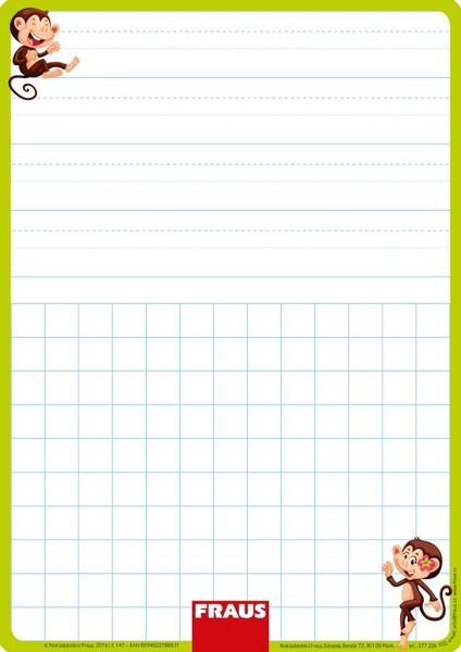 Stíratelná tabulka pro 1. ročník - nevázané písmo