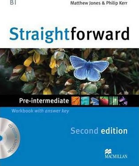 Straightforward 2nd Edition Pre-intermediate Workbook with key + CD (pracovní sešit s klíčem)