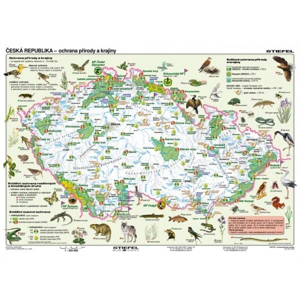 Česká republika - ochrana přírody a krajiny (lamino, A3)