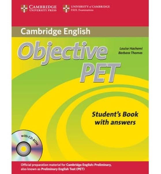 Objective PET - Students Book with answer and CD-ROM (učebnice s klíčem) - 2.vydání