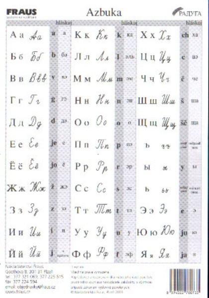 Azbuka - kartička