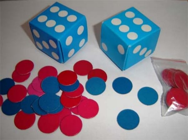 Skládací kostka s 30 barevnými kolečky