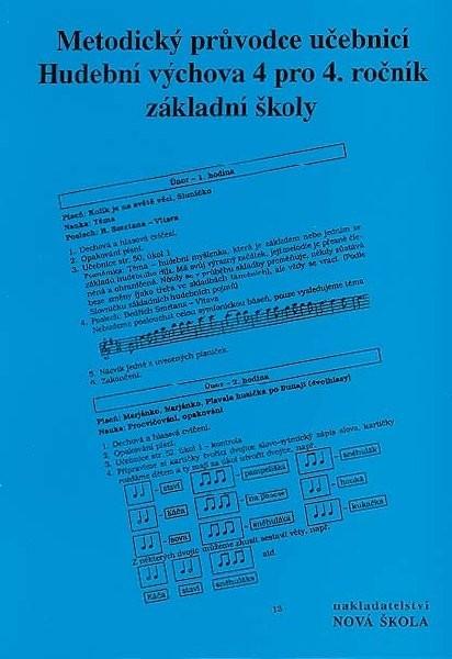 Hudební výchova 4.r. - metodický průvodce učebnicí