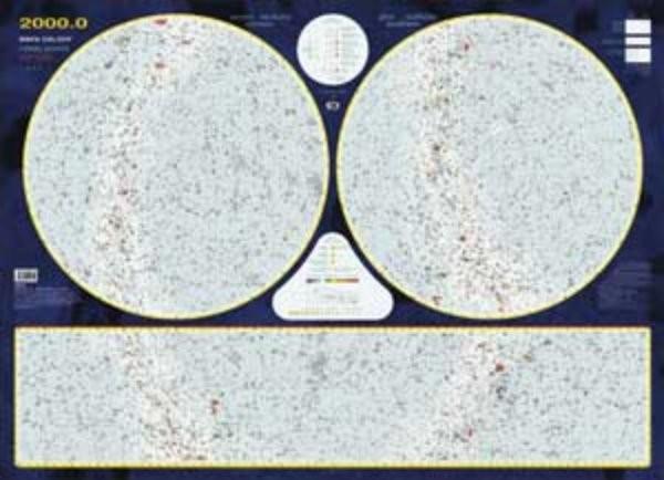 Hvězdná obloha - nástěnná mapa (110 x 81 cm)