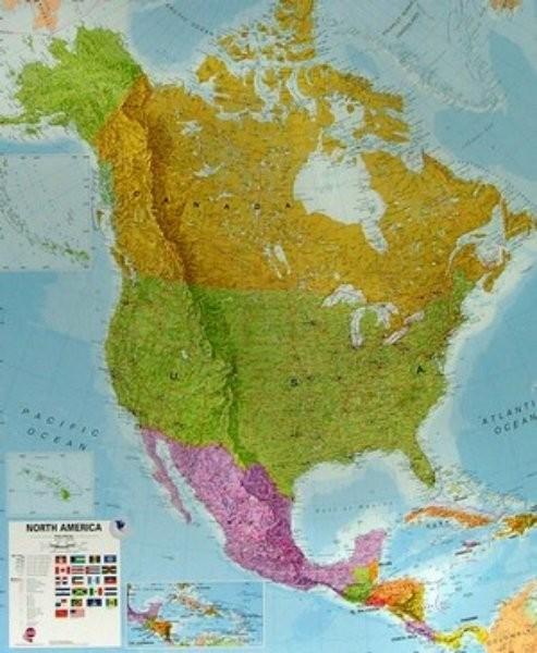 Severní Amerika - nástěnná mapa (120 x 100 cm)