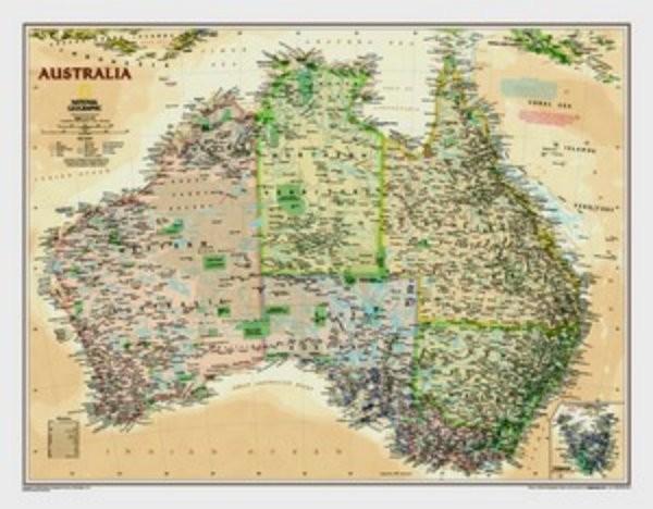 Austrálie - nástěnná mapa (National Geographic)