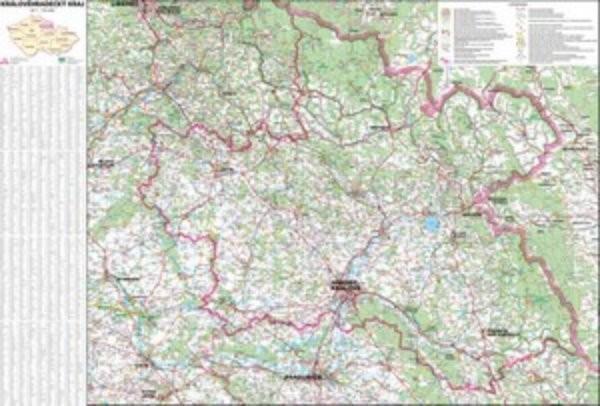 Královéhradecký kraj - nástěnná mapa (113 x 83 cm)