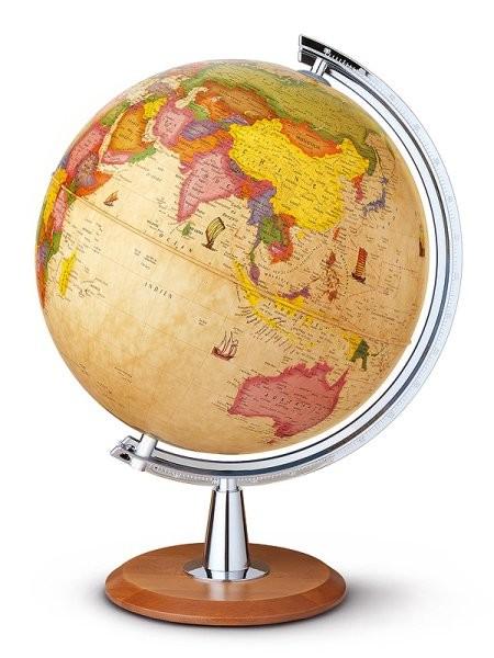 Globus Discovery - světelný (40 cm, dřevo)