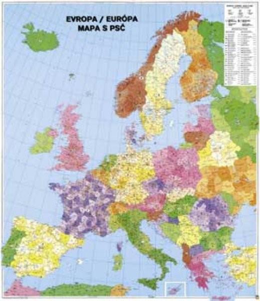 Evropa - Spediční nástěnná mapa (96 x 112 cm)