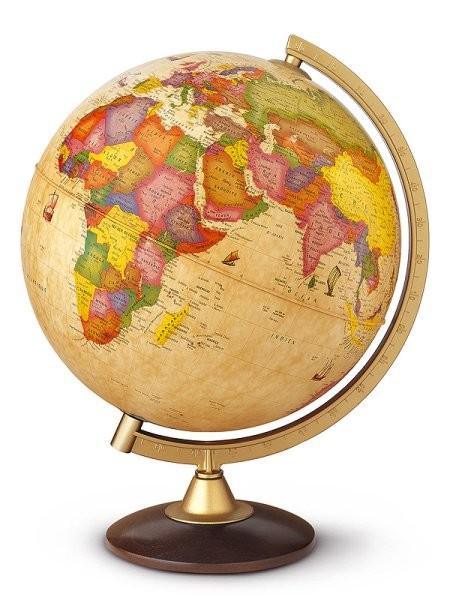 Globus Discovery - světelný (30 cm, dřevo)