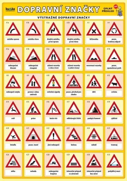 Dopravní značky - úplný přehled (skládačka A5, 10 stran)