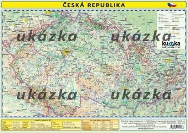 Česká republika - mapka (oboustranné lamino, A4)