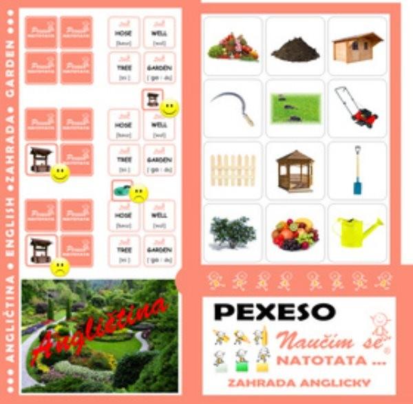 Pexeso Natotata - Angličtina - Zahrada