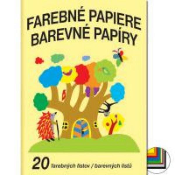Barevné papíry (A4, 20 listů)
