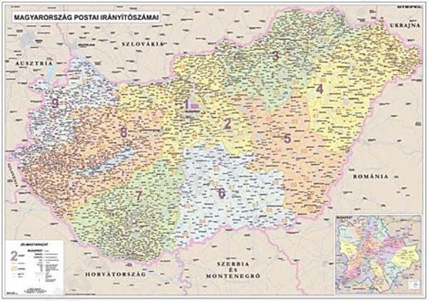 Maďarsko - spediční nástěnná mapa