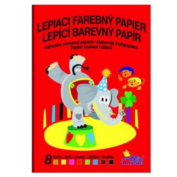 Barevný papír lepící (8 listů)
