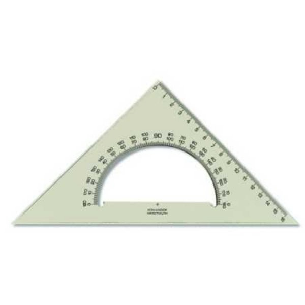 Trojúhelník s úhloměrem kouřový 745640