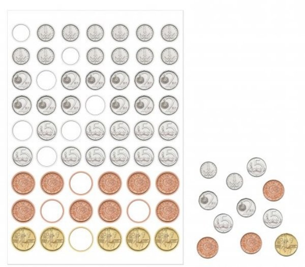 Matematika se Čtyřlístkem 1 - Sada příloh - Peníze