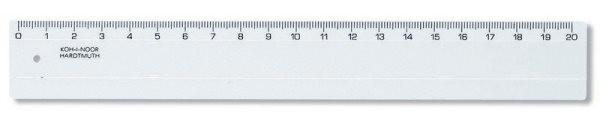 Pravítko 20 cm transparentní