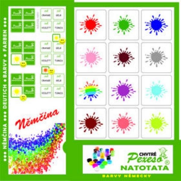 Pexeso Natotata - Němčina - Barvy