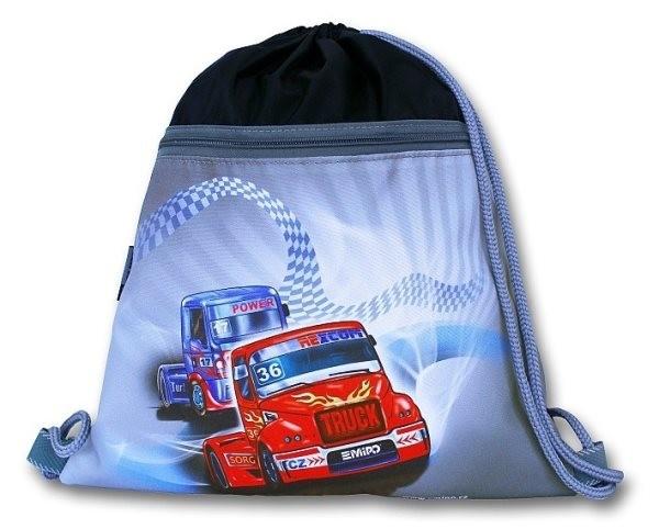 Sáček na cvičky Truck (velký s kapsou na zip)