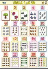 Čísla 1 až 20 (nástěnná tabule 100 x 70 cm)