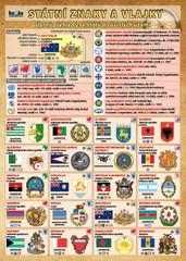 Státní znaky a vlajky (skládačka A5, 8 stran)