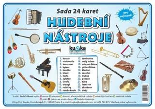 Hudební nástroje - sada 24 karet pro nejmenší