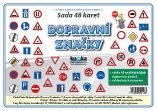 Dopravní značky - sada 48 malých karet (A7)