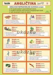 Angličtina karty 2 - anglická nepravidelná slovesa (skládačka A5, 8 stran)