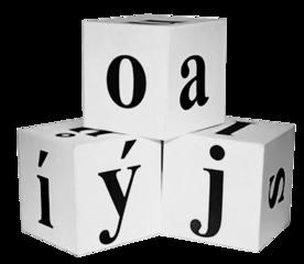 Demonstrační kostky s písmenky