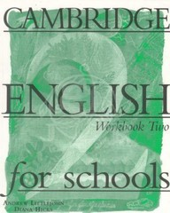 Cambridge English for Schools 2 Workbook (pracovní sešit)