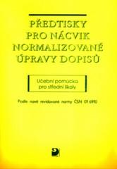 Předtisky pro nácvik normalizované úpravy dopisů