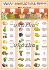 Obrázková angličtina 2 - Ovoce a zelenina (oboustranná tabulka, A5)