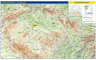 Česká republika - nástěnná obecně zeměpisná mapa