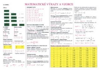 Matematické výrazy a vzorce (tabulka)
